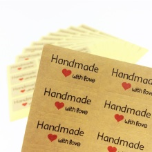 120 Pcs/lot 'Handmade with love' Scrapbooking Kraft Paper Labels Envelopes Stickers Gift Packaging Seal Seals Sticker