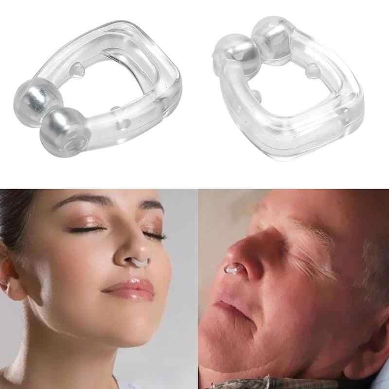 1/2/4 pces anti ronco nariz cip respirar fácil sono nariz clipe ronco bujão ajuda dispositivo de dilatadores nasais para dormir apneia com caso