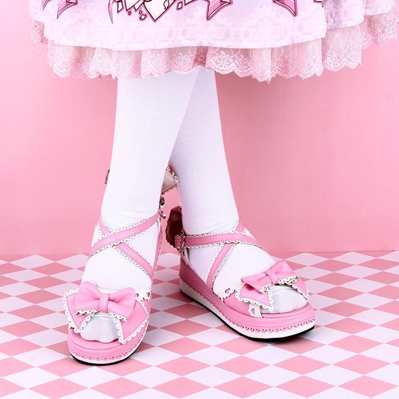 sandálias doces mulheres bonitas 35-46 lolita shoes tamanho 8459