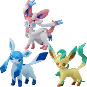 Image 4 - TAKARA TOMY figuras de Anime, eeveee, Glaceon, Vaporeon, Jolteon, Flareon, Leafeon, figuras de anime, figuras de acción de juguete, regalo para niños