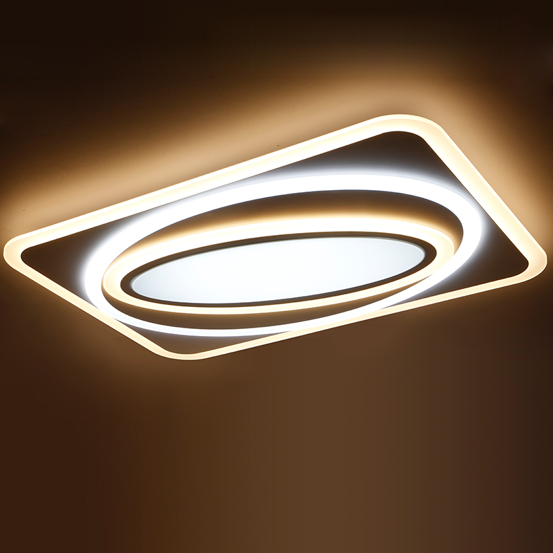 Modern LED Living room rectangular atmosphere creative personality modern minimalist extremely light Ceiling lamps FG155
