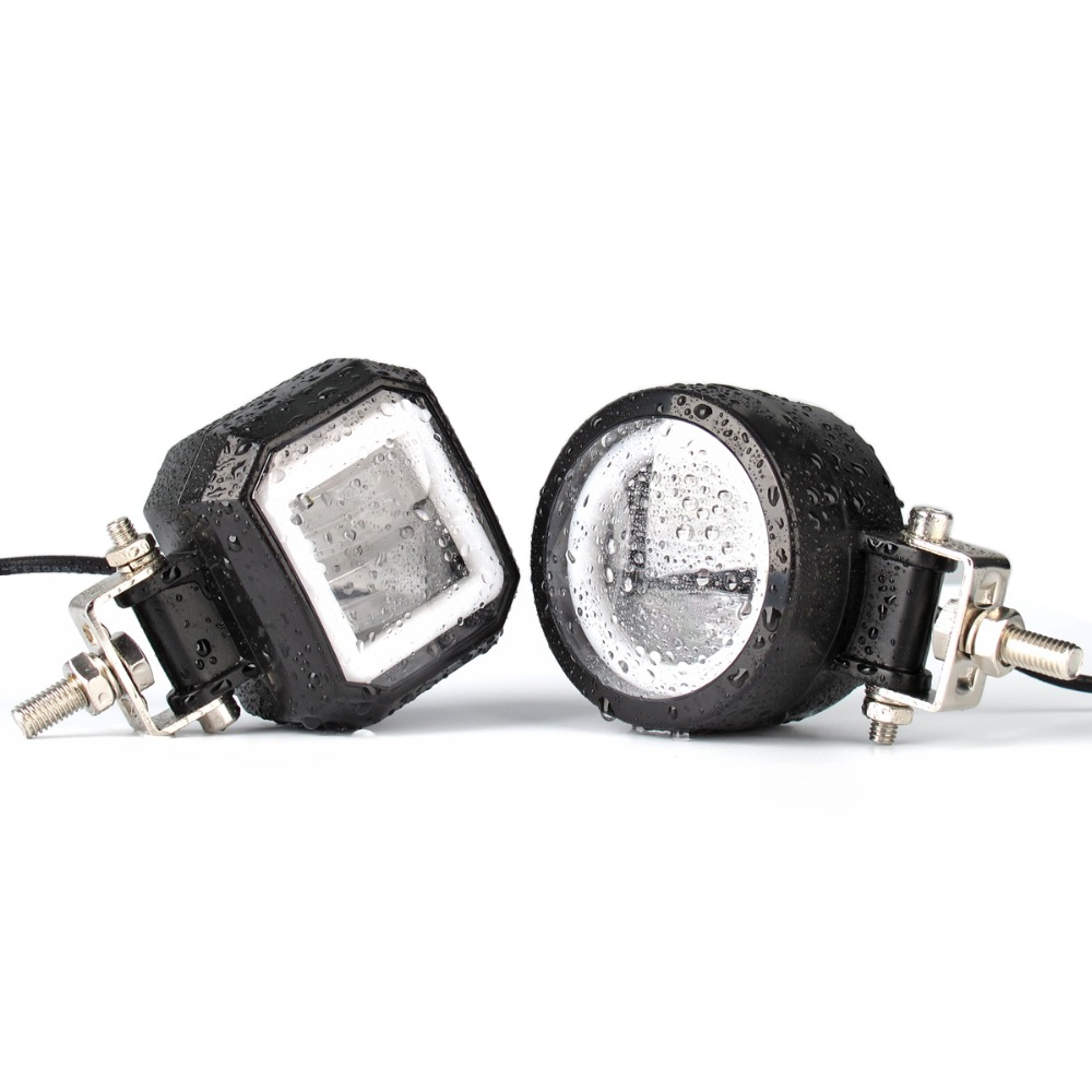 Image 4 - 2Pcs Round 3 Inch 20W Led Work Light 12V 24V For Car 4x4 Off road Motorcycle Bicycle ATV UTV Trucks Angel Eyes Working Lights-in Light Bar/Work Light from Automobiles & Motorcycles