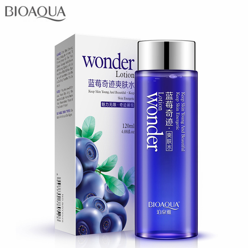 BIOAQUA 120ml Blueberry Facial Toner Water Enriched Refreshing Nutrition Hydrating Moisturizing Whitening Tonic Liquid Face Care image