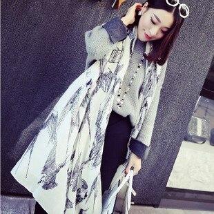 2015 Spring New Exclusive Custom Herringbone Twill Fabric Quality Major Suit Scarf Shawl Swallow