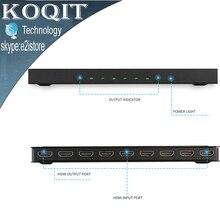 4 К * 2 К 1×8 HDMI 8 Порты и разъёмы HDMI видео разветвитель аудио усилитель повторителя 3D 1080 P 1 в 8 из 1×8 HDMI 8 Порты и разъёмы сплиттер