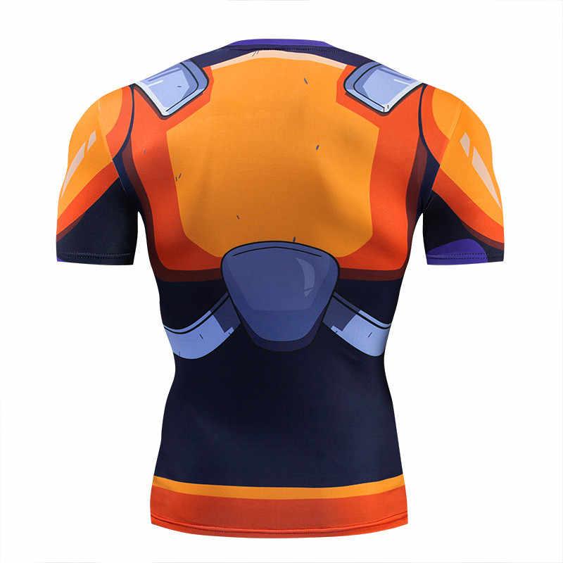 Мужская футболка с длинным рукавом с драконом, футболка vegeta Super Saiyan, короткие футболки с 3D принтом, плотно облегающие топы для фитнеса, S-6XL