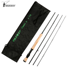 Maxway Starter Fly Fishing Rod 2.1M 2.7M 30T Carbon Fiber Fishing Rod For Trout,Salmon,Steel Head Fish 4 Sections 3/4 5/6 7/8WT
