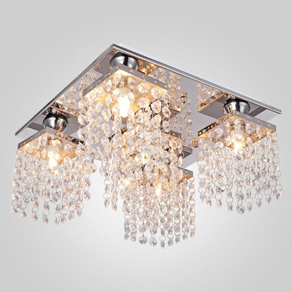 5 Heads Chandelier Contemporary Ceiling Light Elegant Crystal PendantLight Home Decorative Lamp Modern Fixture lighting contemporary crystal flush mount crystal ceiling lighting elegant lighting square crystal lamp modern polish chrome ceiling