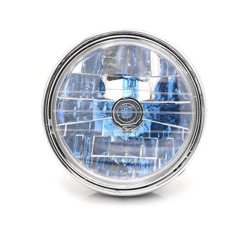 Motorcycle 35W 7 Head Light Headlight Lamp Clear Lens For Honda Cafe Racer Bobber Bike