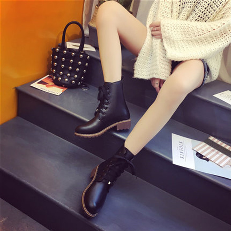 2019 Hot New Autumn Early Winter Shoes Women Flat Heel Boots Fashion Keep warm Women's Boots Brand Woman Ankle Botas Camouflage 5