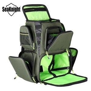 Image 3 - SeaKnight SK004 sac de pêche en plein air grande capacité 25L multifonctionnel 41*44*20cm sac à dos de pêche 1000D Nylon