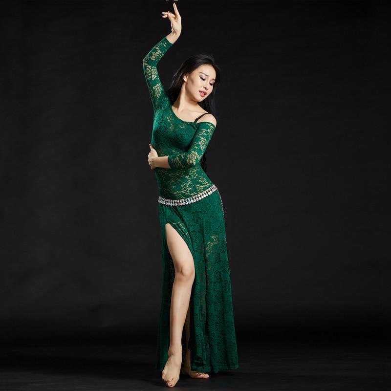 Image 5 - Женские кружевные платья с шортами, длинные платья для танца животаТанец живота    АлиЭкспресс