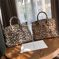 High quality leopard platinum tote bag black and white pattern strap motorcycle bag diagonal shoulder women bag new sac