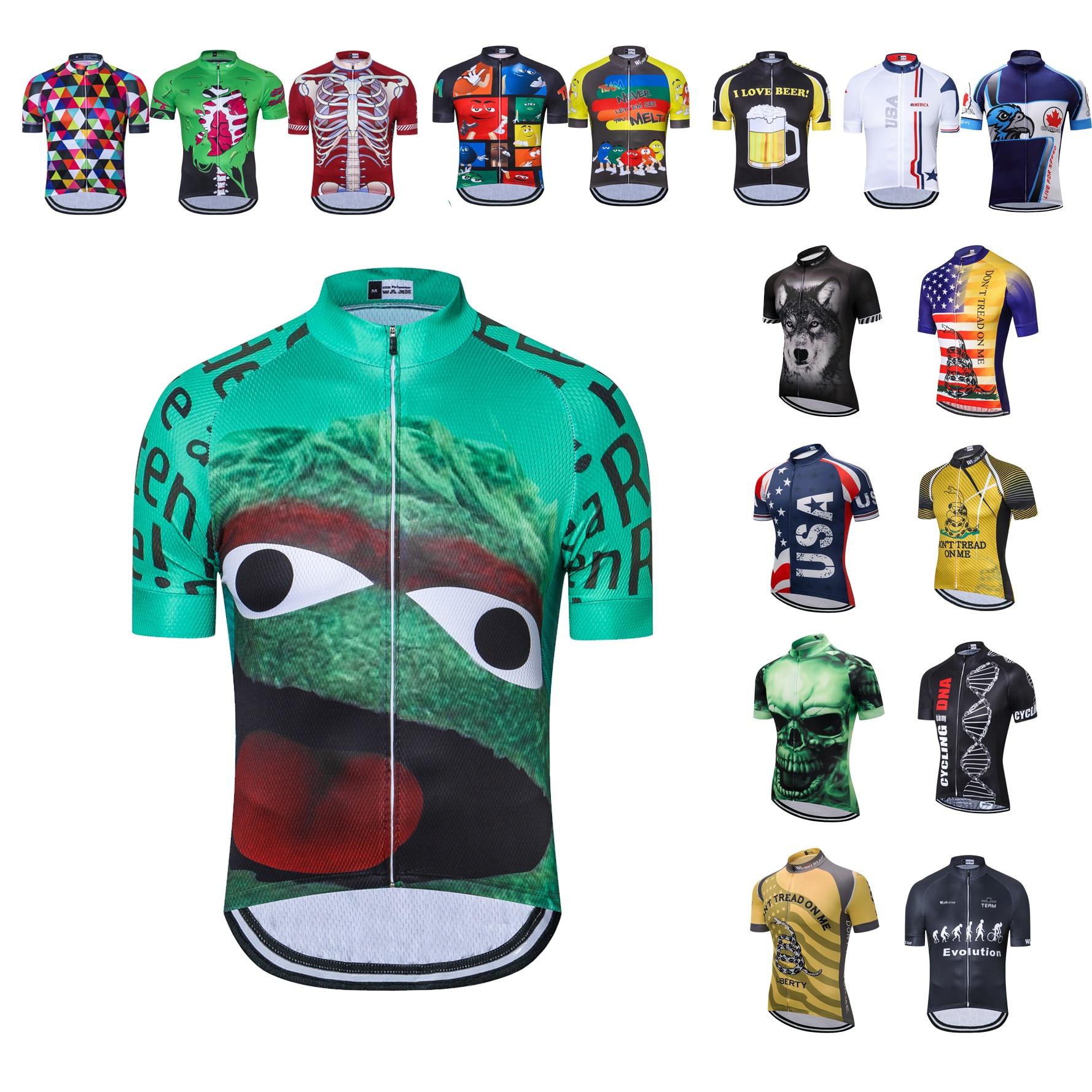 UFOBIKE Ciclismo Homens Jersey Retro Verão 2019 Mtb Mountain Bike Vestuário Camisa de Manga Curta Camisa Tops Ciclismo Maillot ciclismo