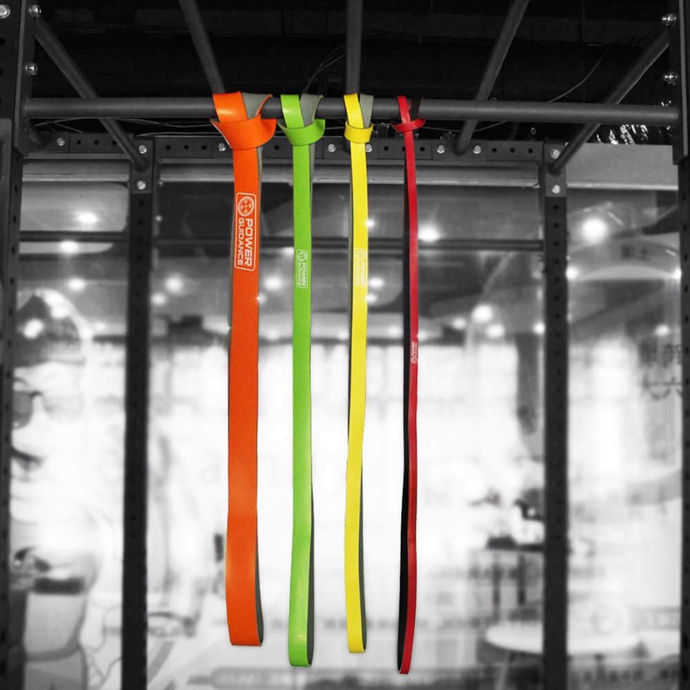 5-125lbs Bi-Color Nature Latex Power Training Resistance Bands Assisted Pull-ups Workout Fitness Strength Loop Rubber Bands free shipping nature pure latex resistance bands 6 size fitness power training strength loop pull up bands rubber expander