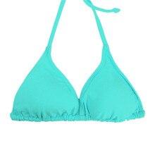 Women Bikini Top Micro Bikini Samll Push Up Ruched String Solid Swimwear Beach Sexy Swimsuit Sporty Girls Beach Wear T606