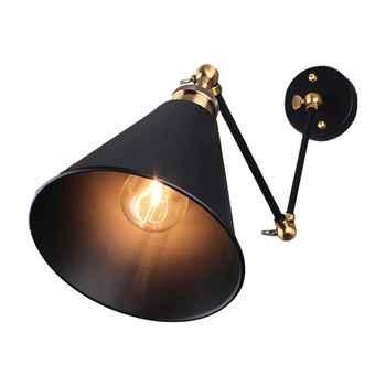BIFI-E27 40-60W Industrial retro long-arm Creative Nostalgic Retractable Bedroom Bedside Wall Light Vintage Wall Lamp Adjustable