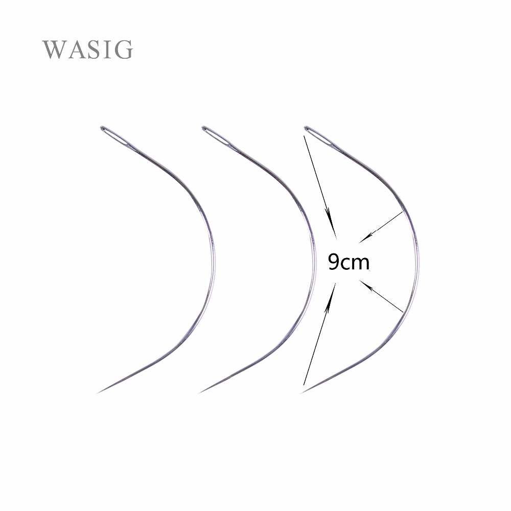 50pcs 9cm C Shape Curved Needles Threader Sewingweaving