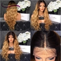 T1b/27 Two Tone Ombre Full Lace Human Hair Wigs 180% Glueless Full Lace Wigs For Black Women Brazilian Hair Lace Front Wigs