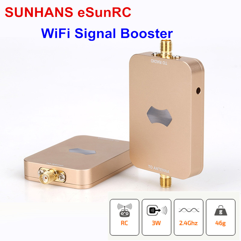 2pcs/Lot 100% Original SUNHANS ESunRC 2.4Ghz 3000mW 35dBm For UAV Wireless WiFi Signal Booster Signal Amplifiler