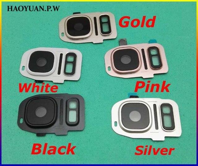 HAOYUAN. p.W Trở Lại Máy Ảnh Glass Lens + Khung Nhà Ở Cho Samsung Galaxy S7 Cạnh G935 G9350 G935F/A/T cho S7 G930 G9300 G930F/A/T
