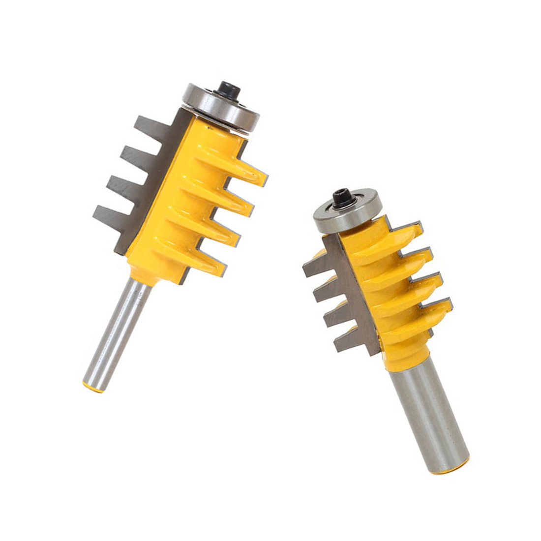 Reversible Finger Joint Glue Router Bit Cone Tenon Woodwork Cutter Power Tools-1/2, 1/4 ,8mm Shank