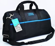 CAMMITEVER 17-inch Waterproof Tool Bag 600D Oxford Cloth Large Capacity Adjustable Shoulder Strap