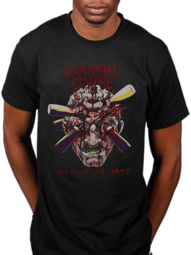 Cannibal Corpse Ice Pick Lobotomy T-Shirt Skeletal Domain Bloodthirst Fashion 100% Cotton T-Shirt