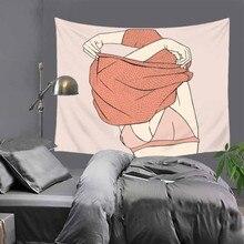 Творческие линии рисунок пара любовник печатных гобелен хиппи мандала на стене богемный покрывало