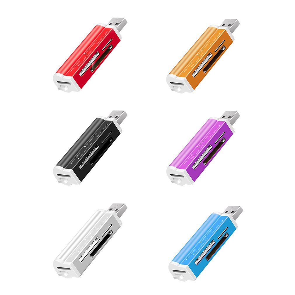 Multi Memory Universal Lighter Shape USB Card Reader For TF Micro SD MMC SDHC M2 Memory Stick MS Duo RS-MMC Hot