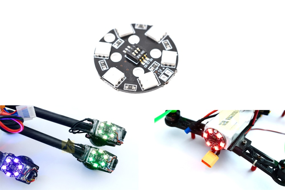 1pcs Matek RGB LED Round Circle Board 5050 X6-12V for FPV RC Racing Cross Drone Multicopter Quadcopter 1pcs lightweight matek rgb led circle board 7 colors x8 16v for fpv rc multicopter