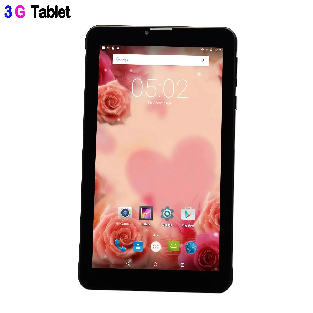 Prix pour Nouveau 7 Pouce 3G Appel Téléphonique Quad Core IPS LCD Android 5.1 sucette Comprimés pc Bluetooth 8 GB Mini Pad Carte SIM téléphone couverture En Cuir