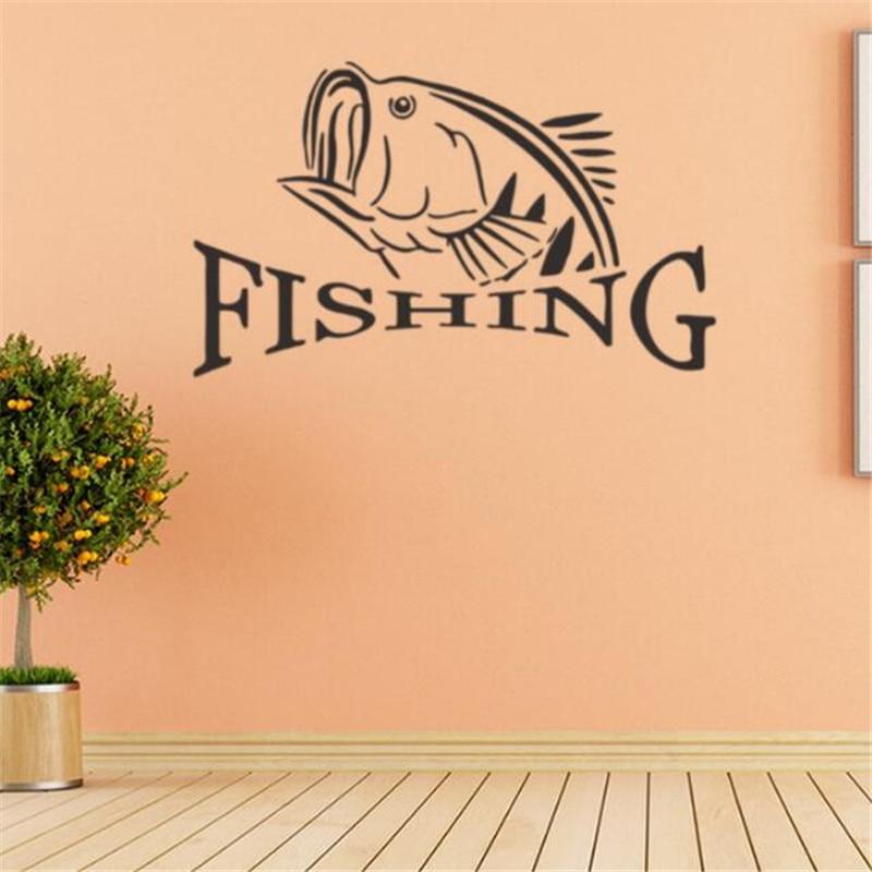 IDFIAF Hot Sale Fish Line Bait Fishing Wall Sticker Circle Hollow ...