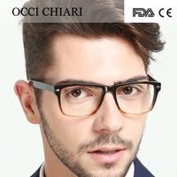 2018 High Quality Glasses Fashion Mens Acetate Eyewear Frame HandMade Square Frame Spring Hinge Prescription Glasses
