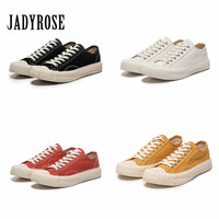 Jady Rose Women Vulcanized Lovers Shoes Platform Flat Canvas Shoes Woman  Sneakers Flats Tenis Feminino Espadrilles d15520b85455