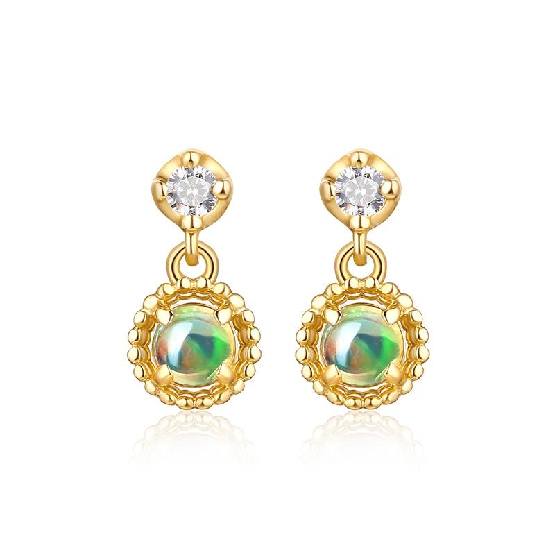 JXXGS Jewelry 14K Gold Opal Luxury Earrings Gold Color Drop Earrings For WomenJXXGS Jewelry 14K Gold Opal Luxury Earrings Gold Color Drop Earrings For Women