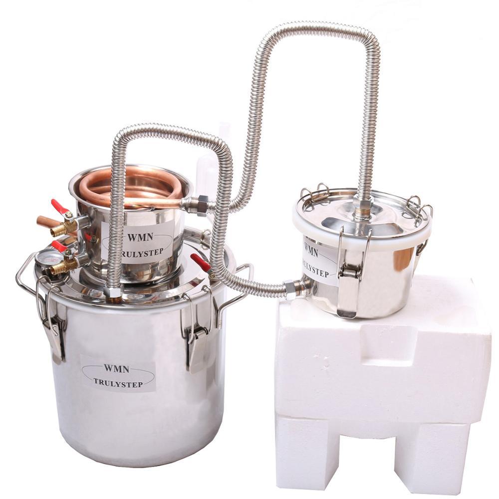 NOVINKA 3 hrnce DIY 8 Gal 30 L Alkohol Nerez Moonshine Stále voda Spice Ovoce Víno Měděný Distiller Kotel Keg Home Brewing Kit