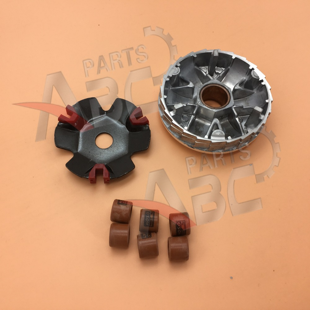 US $14 99 |GY6 50CC Drive Clutch KOSO Variator with 12g roller for 150cc  Scooter Go Kart KINROAD ROKETA KAZUMA-in Engine Cooling & Accessories from
