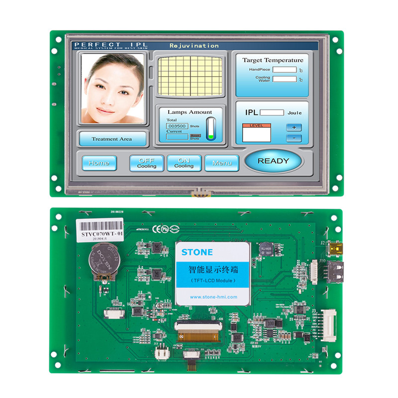 7 inch tft lcd with touch screen and integrated CPU & MCU for Custom OEM solutions