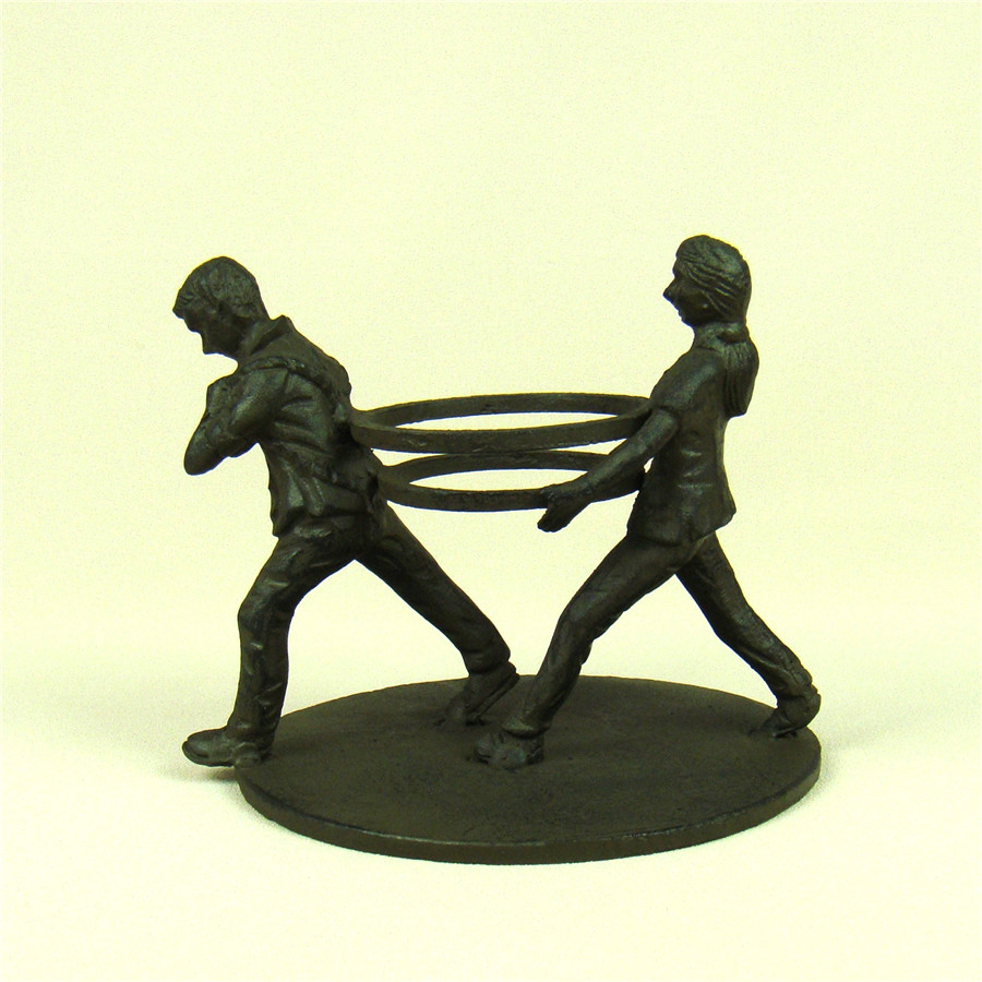 Funny Metal Couple Miniature Candle Holder Decorative Iron Art ...