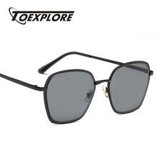 TOEXPLORE Polígono Espelho Óculos de Armação de Metal Óculos De Sol Dos  Homens Das Mulheres Designer De Marca Óculos de Sol Da M.. dc1b222b9e