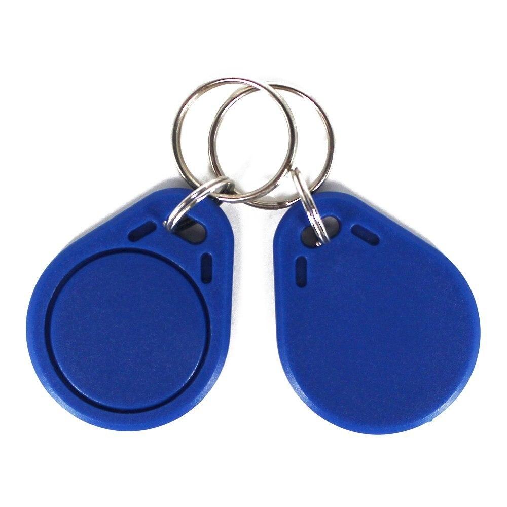 ISO14443A RFID MF Classique 1 K RFID ABS Clé Fob 13.56 MHz Porte-clés NFC Tag contrôle d'accès carte jeton Couleur bleu (Pack de 100)