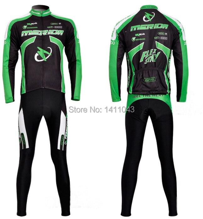 купить онлайн - дети долго sleevethermal ватки зеленый велоспорт-джерси и брюки носить комплект