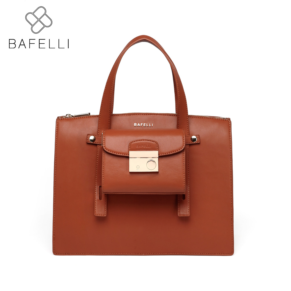 BAFELLI split leather vintage composite bag womens business Large capacity shoulder handbag Wine red hot sale messenger bag