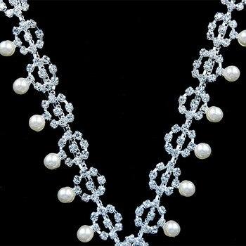 10Yards Crystal Sashes For Wedding Fashion Handmade Wedding Bridal Belt Braided Rhinestone Appliques Trim