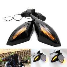 Novo LED Turn Signal Indicadores Retroviseur Clignotants Moto Da Motocicleta Espelhos Retrovisores Laterais Para Honda CBR 250 600 900 RR 1000
