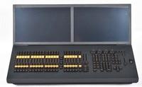 Профессиональный свет этапа контроллер i5 Grand ma2 движущегося света консоли черный конь освещения dmx dj контроллер 2x19 дюймов дисплей