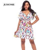 3xl 4xl Plus Size Tunic Party Dress High Waist Flower Beach Fashion Robe Femme Boho Clothing