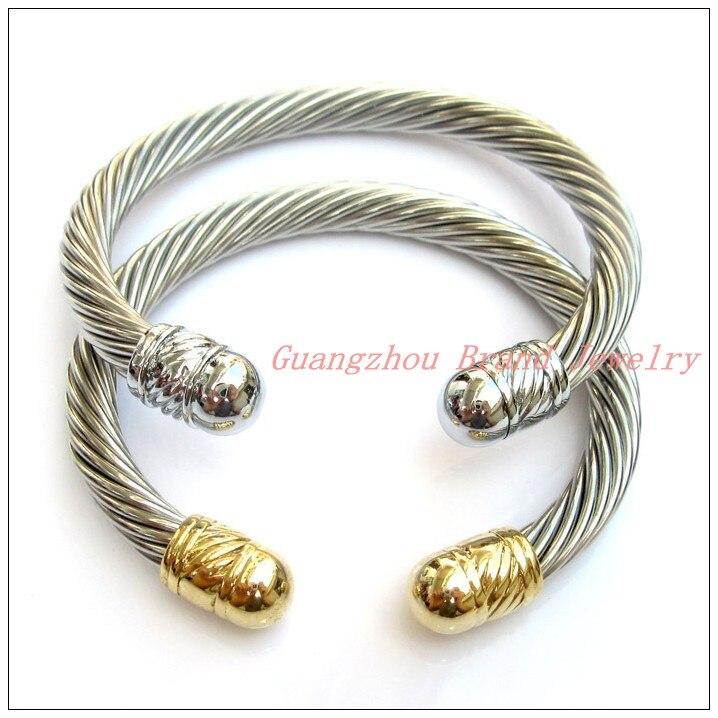 ᐅ7mm promoción venta Acero inoxidable plata oro cable Alambres ...