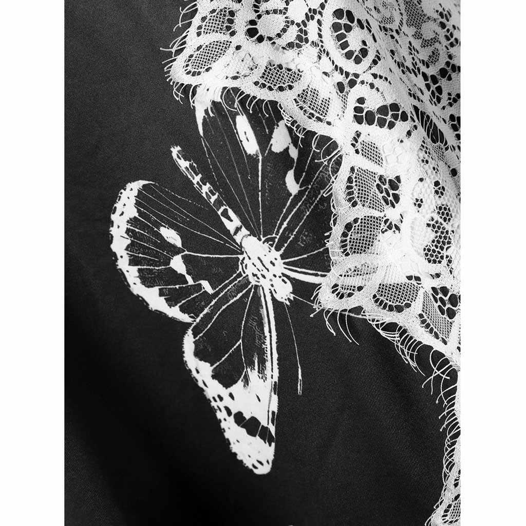 2019 夏の女性のシャツのベストの tシャツ 2019 女性のファッションカジュアル O ネックポケットポリエステルレースシャツ camiseta tirantes ムー